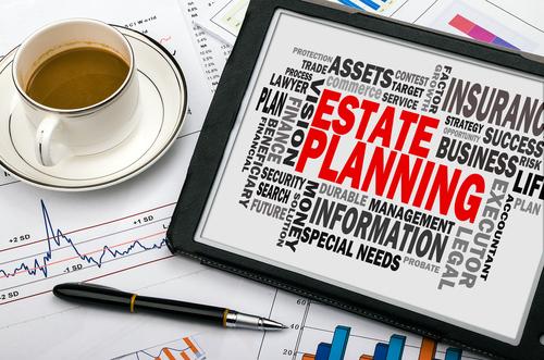 Estate Planning written on a board